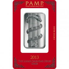 1 oz Silver PAMP Suisse Snake Bar
