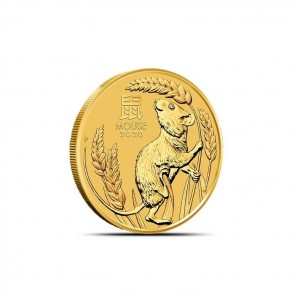 1/10 oz Gold Perth Mint Lunar Mouse (Series III) Coin 2020