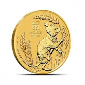 1/2 oz Gold Perth Mint Lunar Mouse (Series III) Coin 2020