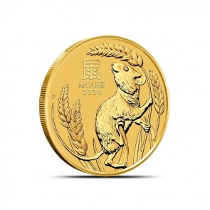 1/4 oz Gold Perth Mint Lunar Mouse (Series III) Coin 2020