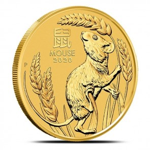1 oz Gold Perth Mint Lunar Mouse (Series III) Coin 2020