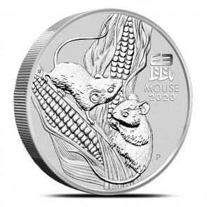 5 oz Silver Perth Mint Lunar Mouse (Series III) Coin 2020
