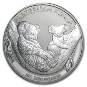 1 kilo Silver Perth Mint Koala Coin 2011