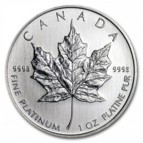 1 oz Platinum RCM Canadian Maple Leaf Coin Pre Year