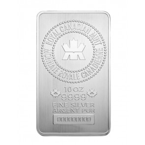 10 oz Silver Royal Canadian Mint Bar