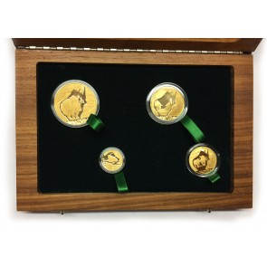 Gold Natura Series - White Rhino 4 Coin Set 2009