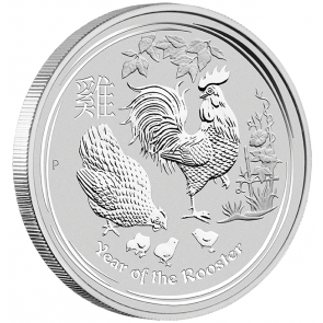 1 kilo Silver Perth Mint Year of the Rooster Coin 2017
