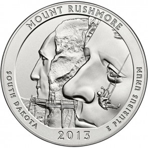 5 oz Silver Mount Rushmore Coin 2013