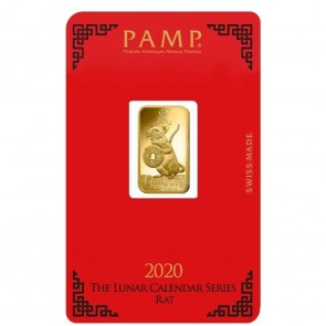 5 gram Gold PAMP Suisse Mouse Bar