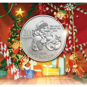 1/4 oz Silver $20 for $20 Santa Coin 2013
