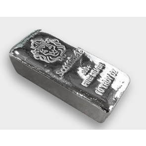 "10 oz Silver Scottsdale ""Chunky"" Poured Bar"