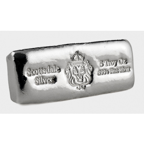 5 oz Silver Scottsdale Cast Bar