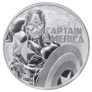 1 oz Silver Marvel Series Captain America Coin 2019