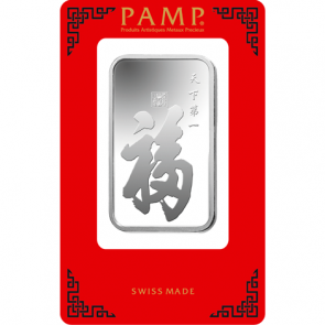 1 oz Silver PAMP Suisse True Happiness Bar