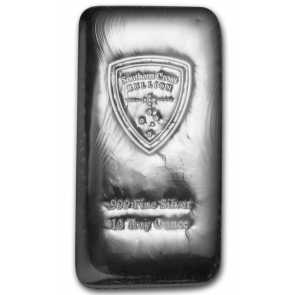 10 oz Silver South Cross Bullion Bars