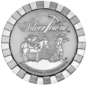 1 oz SilverTowne Prospector Stackable Silver Round