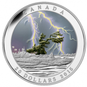 1 oz Silver Weather Phenomenon - Summer Storm $20 Coin 2015