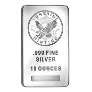 10 oz Silver Sunshine Mint Bar
