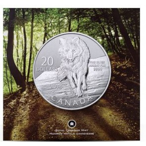 1/4 oz Silver $20 for $20 Wolf Coin 2013