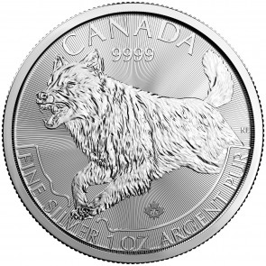 1 oz Silver Predator Series - Wolf Coin 2018