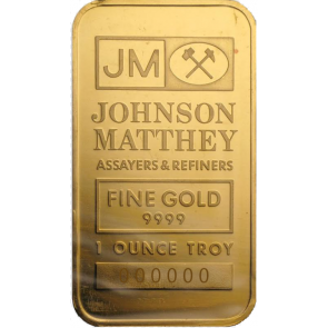 1 oz Gold Johnson Matthey Bar
