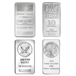 10 oz Various Silver Bars - SPECIAL