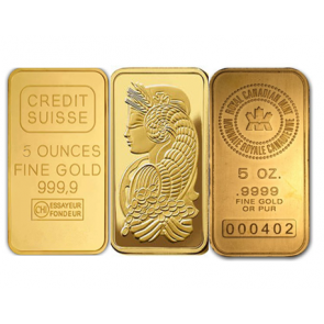 5 oz Gold Various Bar