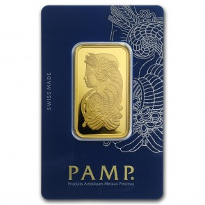 1 oz Gold PAMP Suisse Fortuna Veriscan Bar