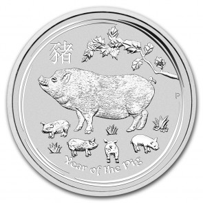 5 oz Silver Perth Mint Year of the Pig Coin 2019