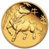 1 oz Gold Perth Mint Lunar Ox (Series III) Coin 2021